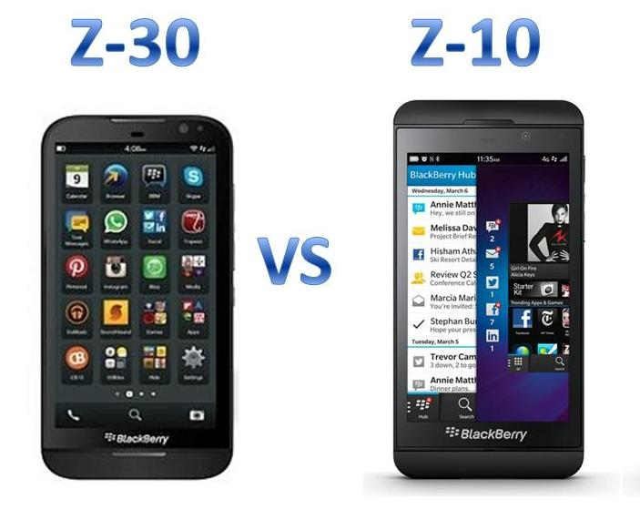 BlackBerry Z30 or BlackBerry Z10- Which one to go for
