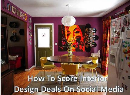 How To Score Interior Design Deals On Social Media??