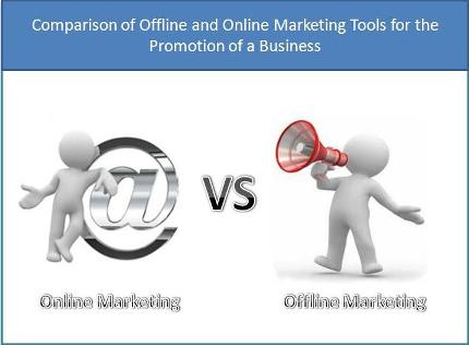Comparison of Offline and Online Marketing Tools for the Promotion of a Business