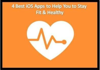 4  Best iOS Apps to Help You  to Stay Fit & Healthy