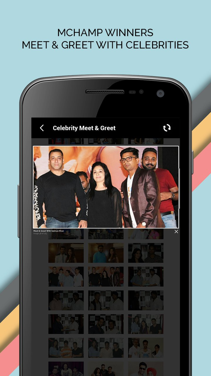 mChamp App Review Play Contests Win-Chance to Meet Celebrities