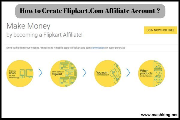 How to Create Flipkart.Com Affiliate Account